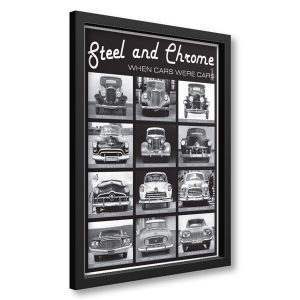 Framed Steel and Chrome Poster