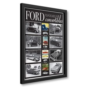 Four Decades of Ford Convertibles framed poster