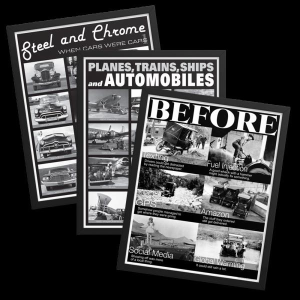 Framed B&W Posters Set