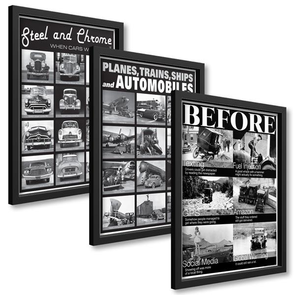 Framed B&S Poster Set