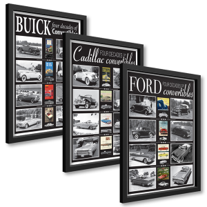 Framed Convertibles Poster Set