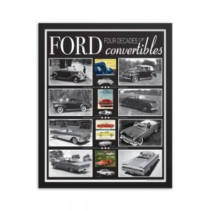 Framed Ford Convertibles Poster