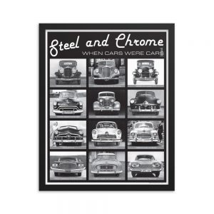 Framed Steel & Chrome Poster