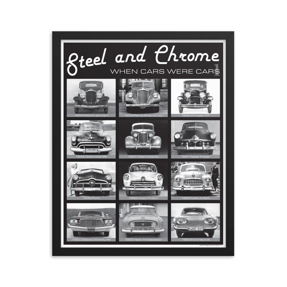 Framed Steel & Chrome Poster
