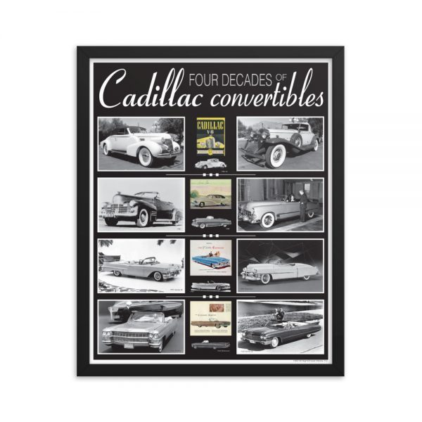 Framed Cadillac Convertibles Poster