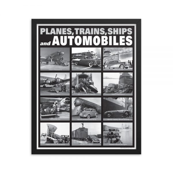 Framed Planes, Trains, Ships and Automobiles Poster