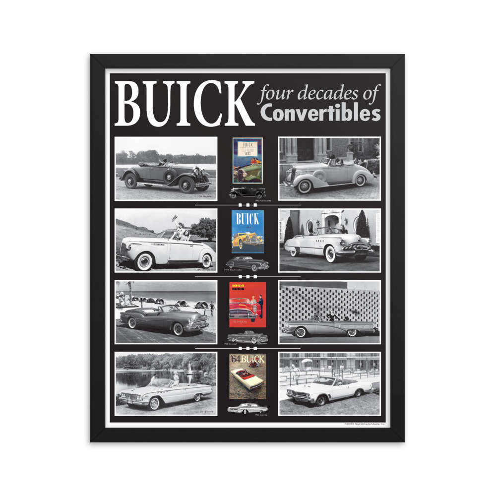 Framed Buick Convertibles Poster