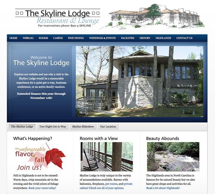 Skyline Lodge Homepage